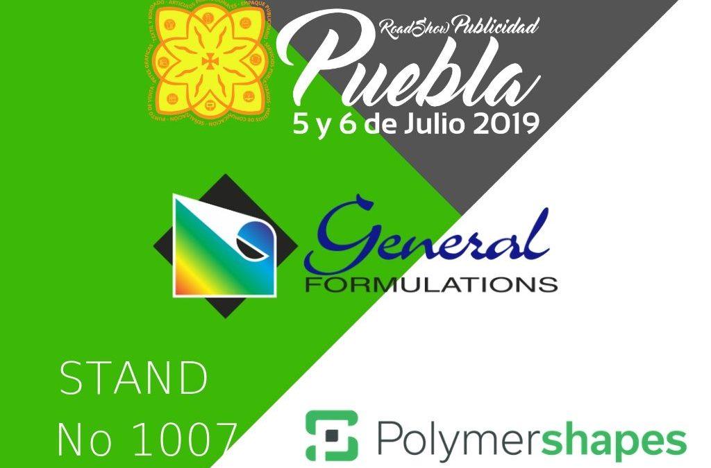 Polymershapes en EXPO PUBLICIDAD & PRINT ROAD SHOW PUEBLA 2019.