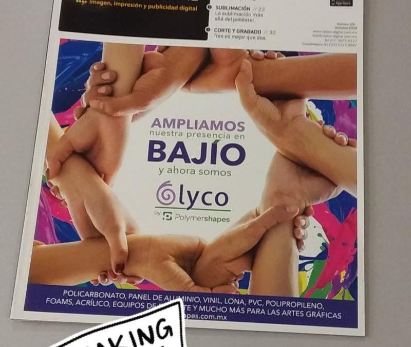 Lyco by Polymershapes, portada en Visión Digital Octubre 2019.
